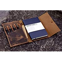 PERSONALISED Distressed Vintage Journal travel leather cover/Leather organizer Notebook cover case for A5 Moleskine Field Notes -NA5005S