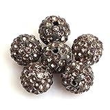 S¨¹? & Happy Girl 's store Lose pflastern Glanz Grau Grau Perlen 10mm f¨¹r Schmuck machen (10 Perlen pro Sweet & Happy Girl'S Shop Viele)