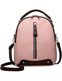 PU Leather Women Messenger Handbag Mini Casual Zipper Shoulder Backpacks