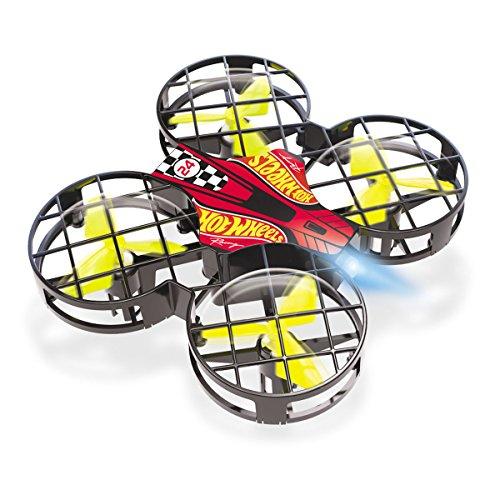 Mondo Mondo-63571 Motors-Hot Wheels Nano Drone per Bambini-63571, Colore Rosso/Nero/Verde, 63571