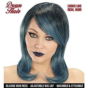 WIDMANN 06429peluca Megan Negro de color azul de color verde en Drea mhair Calidad, mujer, One size