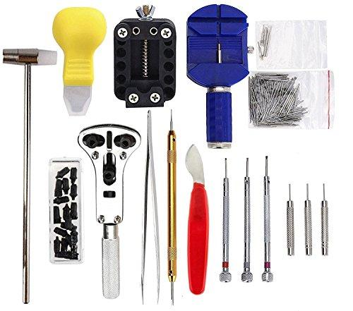 Sopoby Uhrenwerkzeug Set 147tlg Uhrmacherwerkzeug Uhr Werkzeug Tasche Reparatur Set Uhrwerkzeug Gehäuse Öffner in Nylontasche watch tool - 2