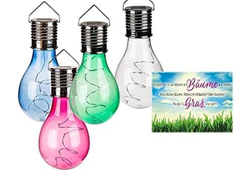Solar Hängeleuchte Glühbirne & Postkarte