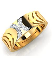 IskiUski The Inerney Gold Ring 18Kt Swarovski Crystal Yellow Gold Ring Yellow Gold Plated For Women