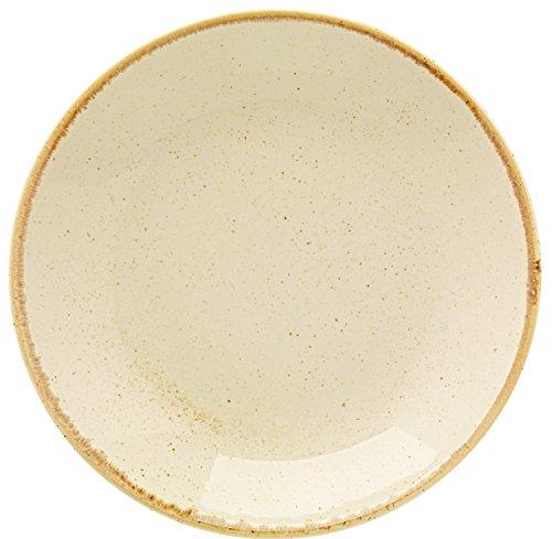 Assiettes creuses sidina, 0,5 l, 26.0 x 4.5 cm (Ø x H), beige, Rond, 6 unités/paquet