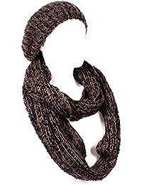 Kombi Set Schlauchschal Loop Grobstrick mit Strick Beanie Mütze in verschiedenen Farben