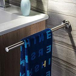 ZUNTO Barra de la toalla Barra de la toalla de los 40CM Barra de la toalla del baño Barra de toalla Barra de acero inoxidable cepillado