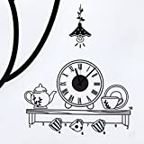 Bluelover Café tiempo PVC DIY reloj de pared arte Adhensive Home Living comedor dormitorio decoración moderna etiqueta