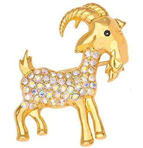 Epinki Unisex Brosche, Edelstahl Tierkreis Form Broschen Pin Abschlussball Anstecknadel Hochzeit Pins Gold (Auge Rosenkranz Pins)