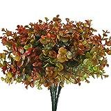 HUAESIN 4PCS Piante Artificiale Arbusti Falso Finte Plastica Piante Finti di Eucalipto Home Kitchen Garden Outdoor Craft Floral Arranging Decori
