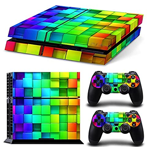 Morbuy PS4 Vinyl Skin Full Body Cover Sticker Decal For Sony Playstation 4 Console & 2 Dualshock Controller Skins (Color