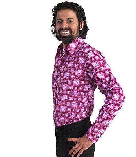 70er Hippie Retromuster Hemd bordeaux bordeaux violett