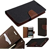 ORC Stylish Mercury Goospery Fancy Diary Wallet Flip Cover for Motorola Moto E3 Power (Brown)