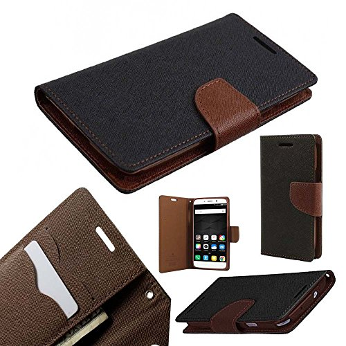 ORC Stylish Mercury Goospery Fancy Diary Wallet Flip Cover for Samsung Galaxy On7/ On7 Pro (Brown)