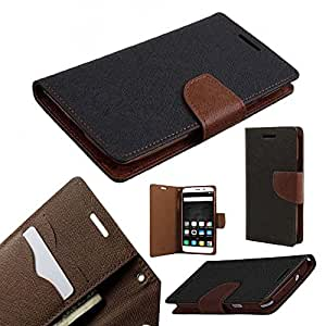 ORC Stylish Mercury Magnetic Lock Diary Wallet Style Flip Cover Case for Nokia Lumia 730 (Brown)