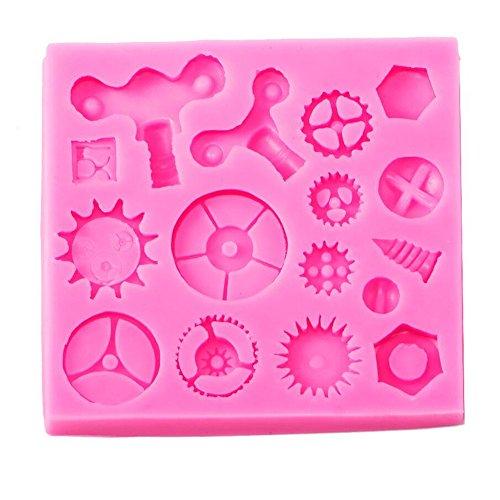 Fondant Kuchen Silikon Formen Backform Backmatte Tablett Cupcake Schokolade Seife Teig Kuchen Dekoration Werkzeug Küche Supplies Gears & Gearwheel (Küche Gear)