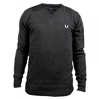 Pull Fred Perry Col V Gris Anthracite S