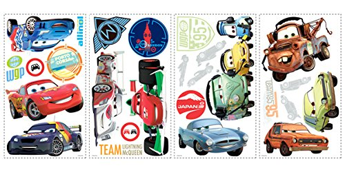 """Image of RoomMates """"Disney Cars 2"""" Wall Stickers, Multi-Colour"""