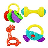 PRESENTSALE baby rattle 4 pcs toy set Rattle (Multicolor)