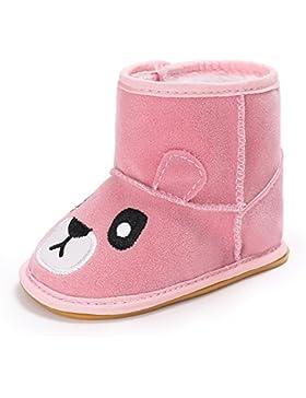 ESTAMICO Baby Jungen Mädchen Rutschfeste Gummisohle Schneestiefel Kleinkind Warme Winter Schuhe