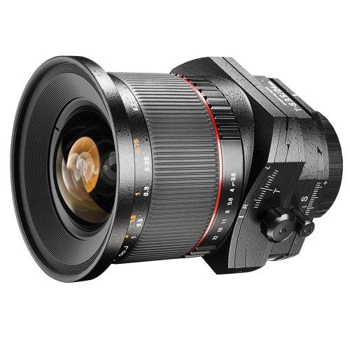 Walimex Pro 24 mm f/3.5 T-S DSLR Tilt-Shift Objektiv für Pentax K Objektivbajonett schwarz