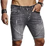 LEIF NELSON Herren Männer Jungen Sommer Kurze Jogger Jeans Hose Shorts Jeanshose Chinos Cargo Bermuda Basic 5-Pocket