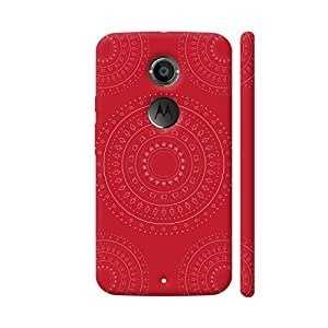 Colorpur Moto X2 Cover - Geometric Shape And Objects On Red Case