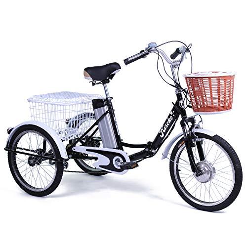 Grupo K-2 Triciclo Eléctrico para Adultos con Dos cestas