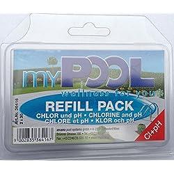 MYPOOL Wasserpflege Nachfülltabletten Chlor & ph- Test