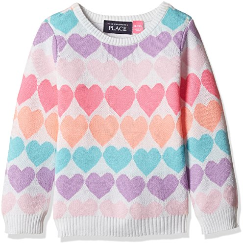 The Children's Place Baby Girls' Sweater (2070319SV_Snow_18-24 M)