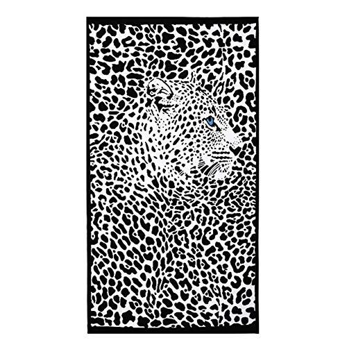 LABAICAI 100 * 180 cm Strandtücher Leopardenmuster Streifen Pferd Delphin Mikrofaser Badetuch Bad Hotel Große Für Erwachsene Frauen (Color : 1) -