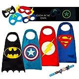LAEGENDARY Disfraces de Superhéroes Para Niños - Regalos de Cumpleaños Para Niños - 4 Capas y...