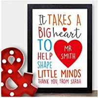 Personalised Thank You Gift for Teachers Teaching Assistant TA Nursery Presents - Thank You Gifts for Teachers, Teaching Assistants, TA, Nursery Teachers - ANY RECIPIENT from ANY NAME - A5, A4, A3 Prints and Frames - 18mm Wooden Blocks - FREE Personalisation