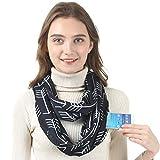 Hethrone Convertible Pocket Infinity Schal mit verstecktem Reißverschluss für Damen und Herren