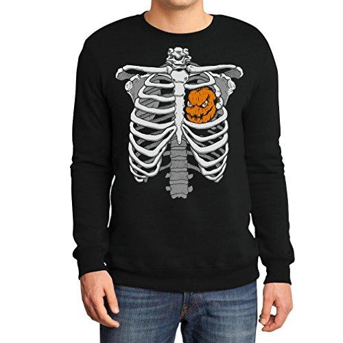t Kürbis Halloween Sweatshirt XX-Large Schwarz (Halloween Brustkorb)