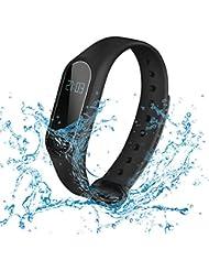 SUFUS Bracelet Connecté, Smart Fitness Bracelet Sport Cardiofrequencemetre Tracker d'Activité, Sommeil, Calorie, Distance, Podomètre de Pas, Compatible avec Android et IOS