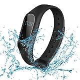 SUFUS Bracelet Connecté, Smart Fitness Bracelet Sport Cardiofrequencemetre Tracker d