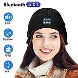 Bluetooth Bonnet Beanie Hat - Mode Bluetooth Beanie Hat Cadeaux pour Femmes, Chapeau Unisexe Bluetooth avec Casque, Musique HD Mains Libres et Appels, Mise à Niveau Bluetooth 5.0, Ultra Douce, Lavable