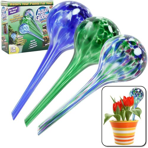 Set of 3 Plant-watering Wasserspender für Pflanzen Birne Aqua Globes Mini Glass Watering Bulbs ACC-1352