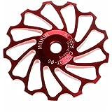 Fulltime® 13D MTB roulement en céramique Jockey roue poulie Road Bike vélo Derailleur ARRIERE (rouge)