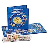 Leuchtturm 302574 Münzalbum PRESSO | Sammelalbum für 2-Euro Sammler- und Gedenk-Münzen | Für bis zu 57 Münzen | Inkl. Flaggen-Stickerset