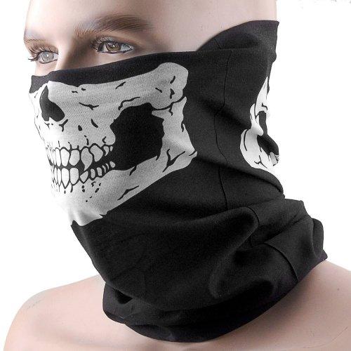 (THG Motorradmaske bandana maske half Skull Face)