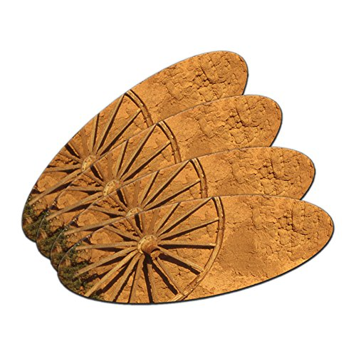 Western Wagon Rad – Fort Union Southwest New Mexiko Oval Nagelfeile Emery Board 4 Stück