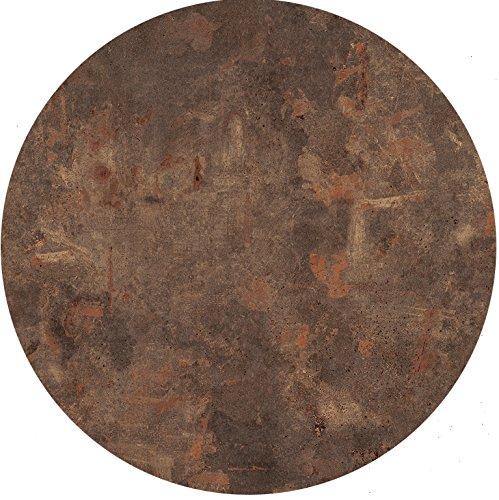 Tischplatte Werzalit, Dekor Rostbraun 60 cm rund wetterfest Ersatztischplatte Bistrotisch Stehtisch Tisch Gastronomie