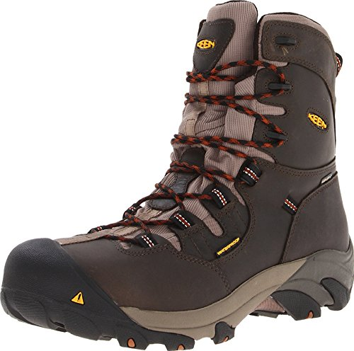KEEN 1008313 Men's Detroit 8IN Safety Boots - Black Olive (Keen-herren-detroit)