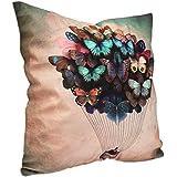 Funda para cojín con diseño de globo y mariposas, Butterflies