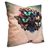 Home Couch Sofa Kissenbezug Kissen Ballon Deckel Schmetterlinge