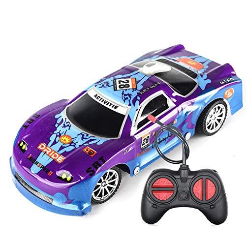Oasics Rennauto ,funkferngesteuerter Monstertruck inklusive Batterien, Ferngesteuertes Auto, 1:26 Einfach ferngesteuertes LKW-Auto zu steuern, Funksteuerungsspielzeugauto für Kinder (Lila)