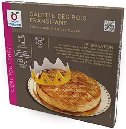 TOUPARGEL - Grande galette des rois frangipane - 700 g - Surgelé