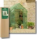 Gardman Compact Walk-in Greenhouse Including Shelving
